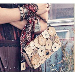 COACH 1941 - Tea Rose Appliqu� Leather Crossbody Bag - saks.com