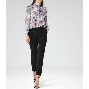 Mia Multi Grey Printed Shirt - REISS