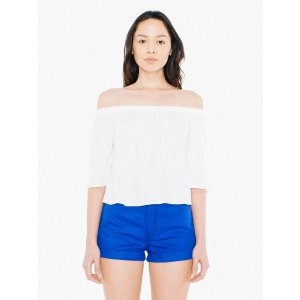 Viscose Twill Willow Top | American Apparel