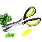 Warmhoming Herb Scissors with 5 Stainless Steel Blades