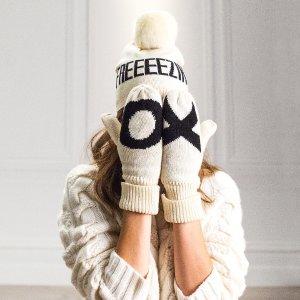 7.5折Indigo冬季降温必备 收保暖帽子+围巾