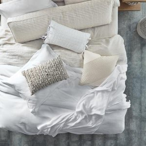 Luminous White Pique Duvet Cover Collection   Croscill Naturals