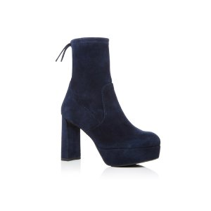 Suede Shorty Bootie by Stuart Weitzman