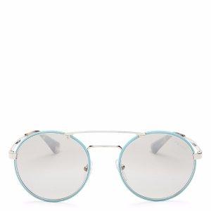 Prada Mirrored Round Sunglasses, 54mm | Bloomingdale's