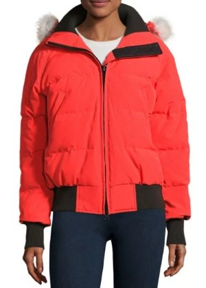 Canada Goose Savona Hooded Quilted Bomber Jacket @ Neiman Marcus