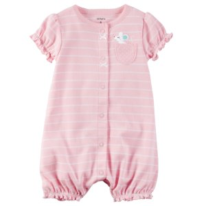 Baby Girl Snap-Up Cotton Romper | Carters.com