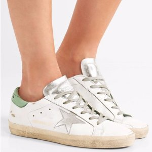 Golden Goose Deluxe Brand   Super Star distressed leather sneakers   NET-A-PORTER.COM