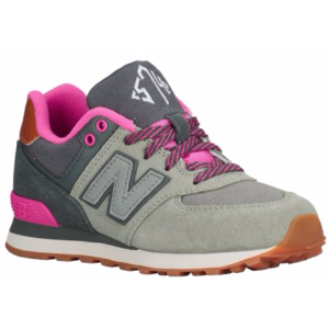 New Balance 574 - Girls' Grade School - Running - Shoes - Dark Grey/Grey/Pink