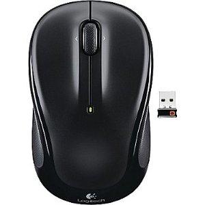 Logitech M325 Wireless Optical Mouse, Ambidextrous, Black (910-002974) | Staples®
