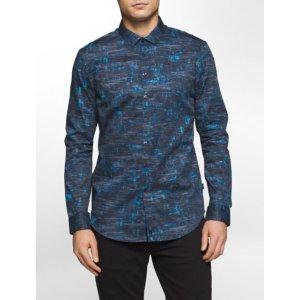 slim fit splatter print shirt | Calvin Klein