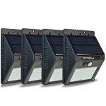 VOLADOR 太阳能供电室外防水感应灯4个装