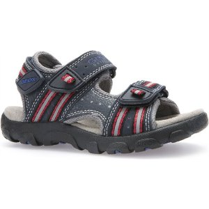 Geox JR SANDAL STRADA in NAVY/RED - Shop Geox - Product