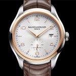 BAUME ET MERCIER Clifton Automatic Silver Dial Brown Leather Men's Watch Item No. 10139