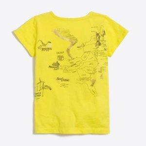 Girls' USA map graphic keepsake T-shirt : FactoryGirls keepsake t-shirts   Factory