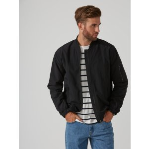 Kingston Nylon Bomber in True Black