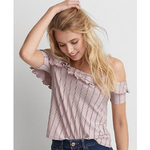 AEO Soft & Sexy Gingham Top
