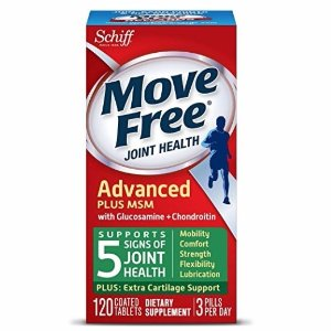 $15.70Move Free Advanced Glucosamine Chondroitin MSM and Hyaluronic Acid Joint Supplement, 120 ct