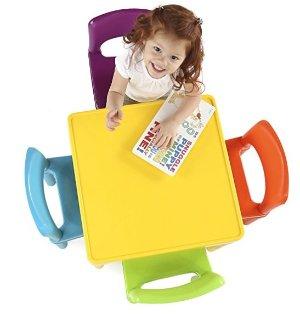 史低价!$24.54Tot Tutors 儿童彩色桌椅套装