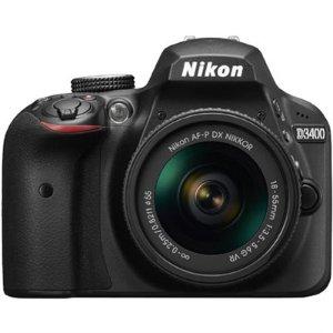 BuyDig.com - Nikon D3400 24.2 MP DSLR Camera with 18-55mm VR Lens Kit (Black) Refurbished