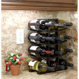 Oceanstar 12-Bottle Bamboo Countertop Wine Rack-WR1132 - The Home Depot