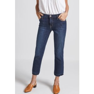 Women's THE CROPPED STRAIGHT JEAN of 90% COTTON, 7% POLYester, 3% ELASTane / Machine Wash | Women's Sale by CURRENT/ELLIOTT