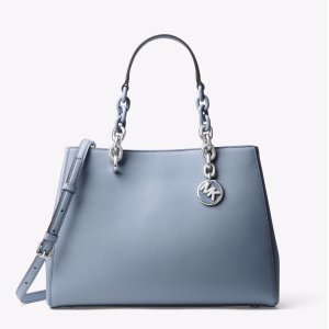 Cynthia Medium Saffiano Leather Satchel
