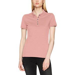 BURBERRY Ysm 87104 Check Under Collar, Polo Femme, Rosa (Carnation Pink), S: Amazon.fr: Vêtements et accessoires