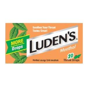 $1.05Ludens 薄荷喉糖, 20颗