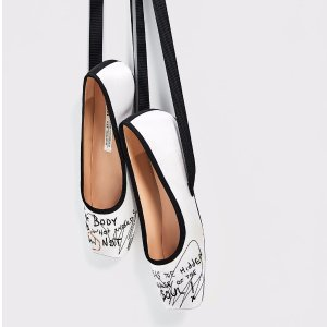 SATIN BALLERINAS WITH EMBROIDERY - View all-SHOES-WOMAN | ZARA United States
