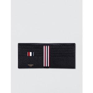 Thom Browne - Pebble Grain Leather Billfold Wallet   HBX