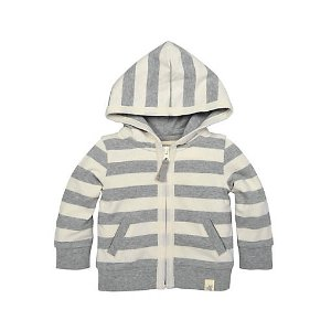 French Terry Stripe Zip Hoodie