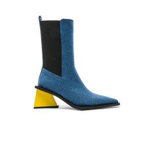 Marques ' Almeida Pointy Mid Denim Heel Boots in Denim