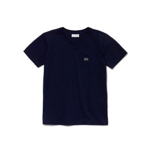 Boy's V-Neck Cotton T-Shirt | LACOSTE