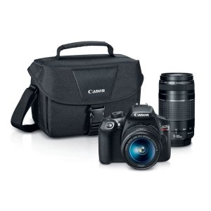 EOS REBEL T6 EF-S 18-55mm + EF 75-300mm Double Zoom Kit | Canon Online Store