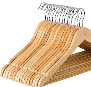 $16.49Zober Solid Wood Suit Hangers with Non Slip Bar and Precisely Cut Notches