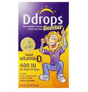 $10.99 Ddrops Booster 600 IU Drops, 100 Drops