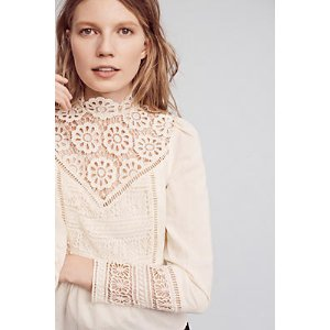 Victorian Lace Blouse | Anthropologie