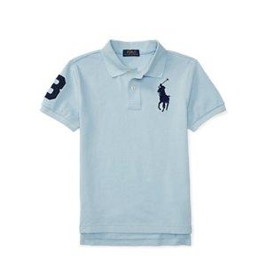 Custom Fit Cotton Mesh Polo - Short Sleeve � Polo Shirts - RalphLauren.com