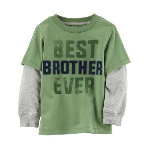 Layered-Look Best Brother Ever Graphic Tee