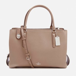 Coach Women's Brooklyn 34 Carryall - Stone - Free UK Delivery over £50