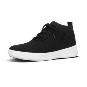 Slip-On High-Top Sneakers In Waffle-Knit