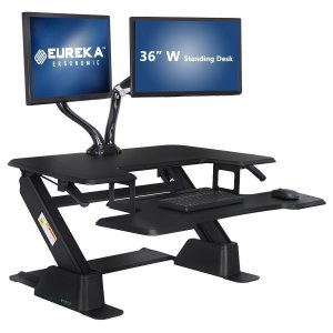 Eureka Ergonomic Height-Adjustable Standing Desk Converter