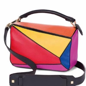 Loewe Puzzle Small Colorblock Satchel Bag