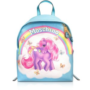 Moschino My Little Pony Light Blue Backpack at FORZIERI