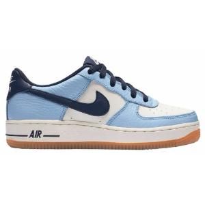 Nike Air Force 1 Low - Boys' Grade School - Basketball - Shoes - Bluecap/Obsidian/Sail/Gum Light Brown