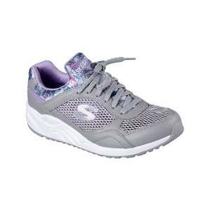 Skechers Gray & Pink Floral OG 95 Metallic Leather Sneaker | zulily