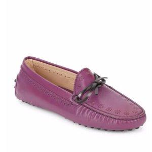 Tod's - Floral Brogued Boat Shoes - saksoff5th.com
