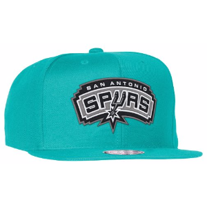 Mitchell & Ness NBA Solid Snapback - Men's - Accessories - San Antonio Spurs - Teal