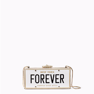 wedding belles license plate clutch