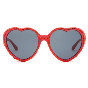 Betsey Johnson | Women's Bling It On Rhinestone Heart Sunglasses | Nordstrom Rack